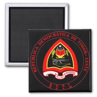 emblema de Timor Oriental Imán Cuadrado
