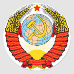 Emblema de Unión Soviética Etiquetas Redondas