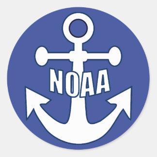 Emblema del ancla de NOAA Pegatina Redonda