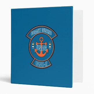 "Emblema del ancla del guardacostas CWO-2 Carpeta 1"""