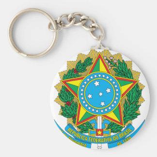 emblema del Brasil Llavero Redondo Tipo Pin