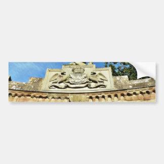 Emblema del castillo etiqueta de parachoque