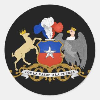 emblema del chile pegatina redonda
