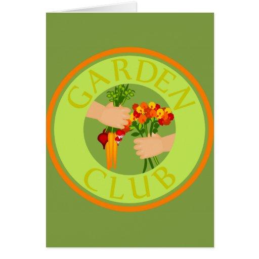 Emblema del club del jardín tarjeta de felicitación