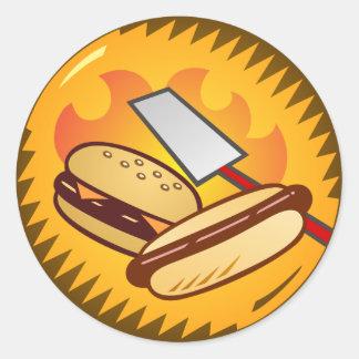 Emblema del Cookout Pegatina Redonda