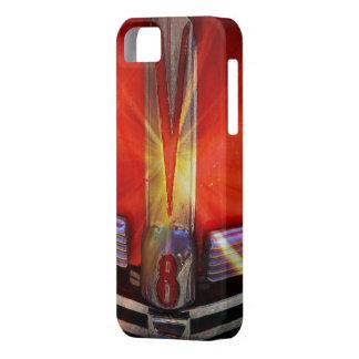 Emblema del cromo de V8 en Hotrod iPhone 5 Funda
