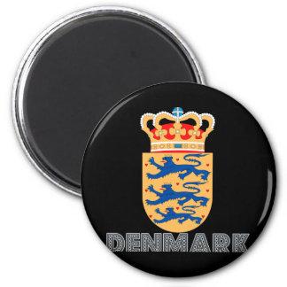 Emblema del danés imán redondo 5 cm