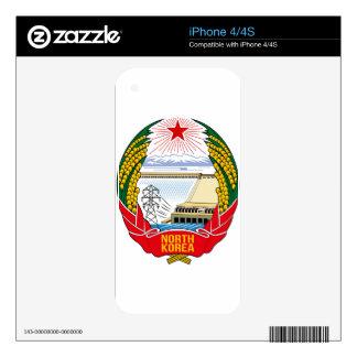 Emblema del DPRK (Corea del Norte) iPhone 4S Skins