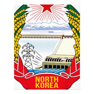 Emblema del DPRK (Corea del Norte) Plantilla De Membrete