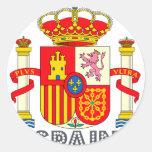 Emblema del español pegatina redonda