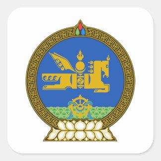 Emblema del estado de Mongolia Calcomanía Cuadradas Personalizadas
