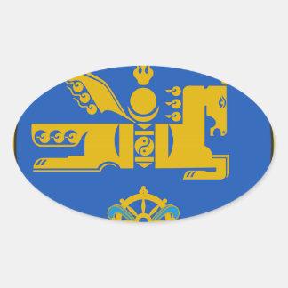 Emblema del estado de Mongolia Colcomanias De Oval Personalizadas