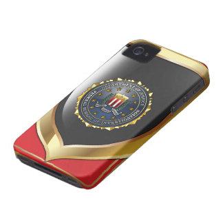 Emblema del FBI Case-Mate iPhone 4 Protectores