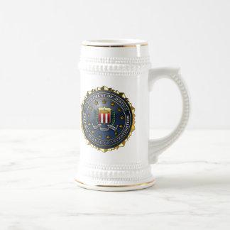Emblema del FBI Jarra De Cerveza