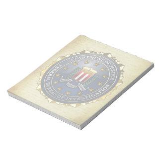 Emblema del FBI Libretas Para Notas