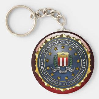 Emblema del FBI Llavero Redondo Tipo Pin