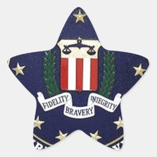 Emblema del FBI Pegatina En Forma De Estrella