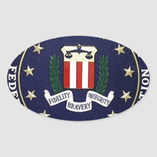 Emblema del FBI Pegatina Ovalada