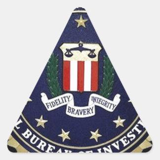 Emblema del FBI Pegatina Triangular