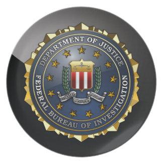 Emblema del FBI Platos De Comidas