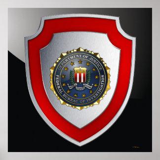 Emblema del FBI Póster