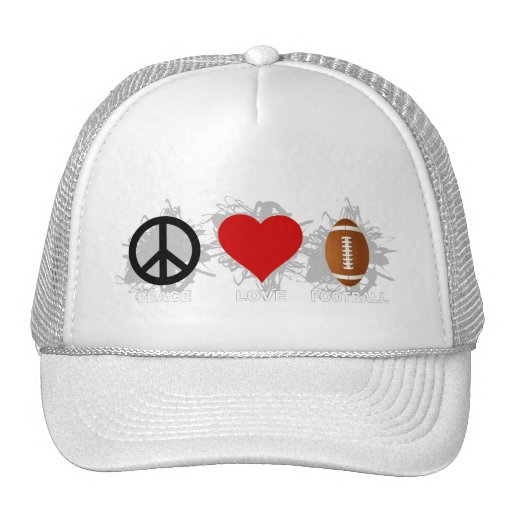 Emblema del fútbol del amor de la paz gorra