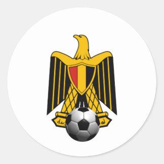 Emblema del fútbol del fútbol de Egipto Eagle Pegatina Redonda