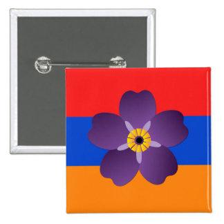 Emblema del genocidio armenio y botón centenarios pin cuadrado