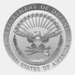 Emblema del gobierno de D.O.D Pegatina Redonda