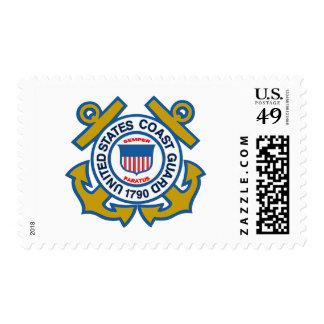 Emblema del guardacostas estampillas
