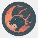 Emblema del guardia del león pegatina redonda