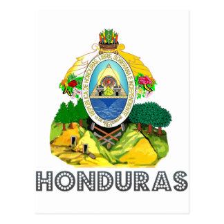 Emblema del Honduran Tarjeta Postal