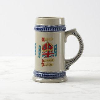 Emblema del jubileo del diamante de la reina jarra de cerveza