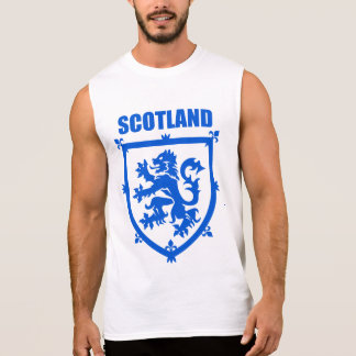 Emblema del león del escudo de armas de Escocia Remera Sin Mangas