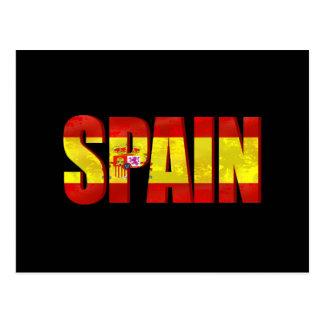 Emblema del logotipo de la bandera de España para Postales