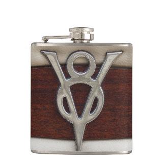 Emblema del motor de V8 del mono de grasa Petaca