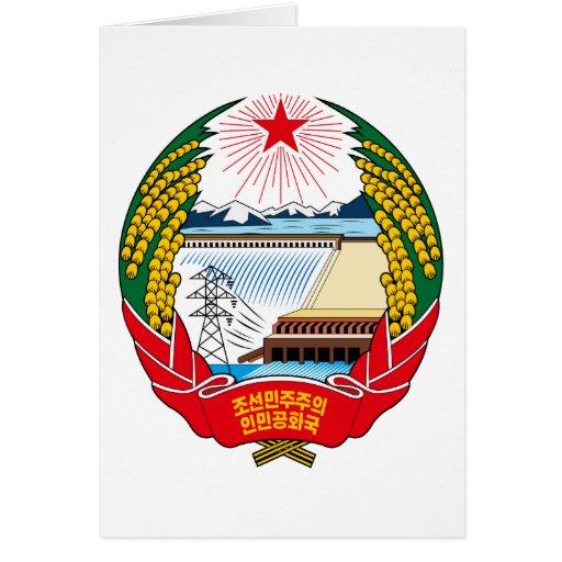 emblema del norte de Corea Tarjeta De Felicitación