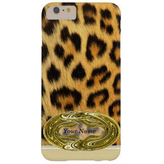 Emblema del oro del estampado de animales de la funda de iPhone 6 plus barely there