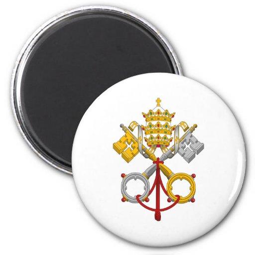 Emblema del papa oficial Symbol Coat del papado Imanes