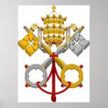 Emblema del papa oficial Symbol Coat del papado Poster