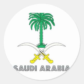 Emblema del saudí pegatina redonda
