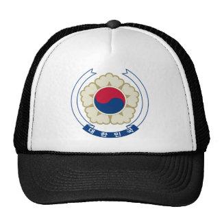 emblema del sur de Corea Gorros Bordados