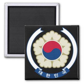 emblema del sur de Corea Imán Cuadrado
