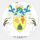 Emblema del turco pegatina redonda
