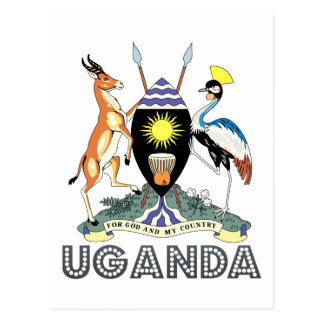 Emblema del Ugandan Postales