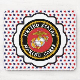 Emblema del USMC con las estrellas rojas, blancas  Tapete De Ratones