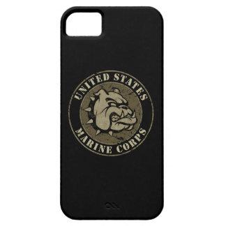 Emblema del vintage del perro de diablo iPhone 5 Case-Mate cobertura