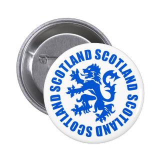 Emblema desenfrenado del león de Escocia Pin Redondo De 2 Pulgadas