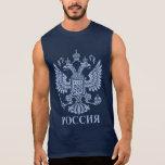 Emblema dirigido doble ruso de Eagle Camisetas Sin Mangas
