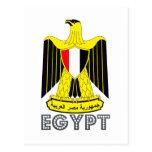 Emblema egipcio tarjeta postal